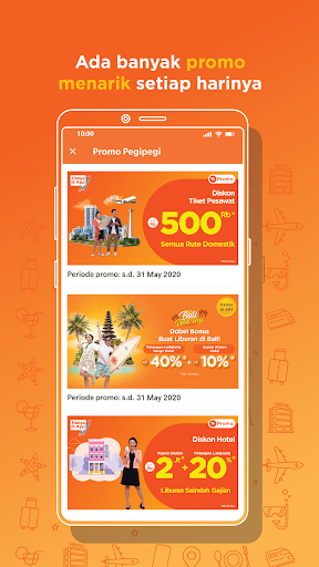 Pegipegi - Beli Tiket Pesawat, Hotel, Kereta & Bus screenshot 2
