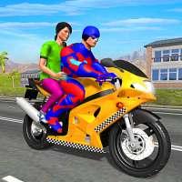 Superhero Bike Taxi Driving Simulator on 9Apps