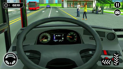 Bus Spiele 2021 Fahrspiel Mega Bus durch die Stadt screenshot 3