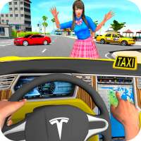 Taxi Driving Simulator City Car New Games 2021 on 9Apps