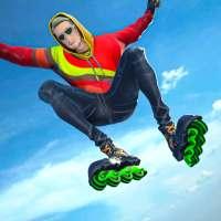 Sky Roller Skate Stunt Games 2021 - Roller Skating on 9Apps