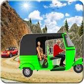 टुक टुक रिक्शा सड़क से हटकर चालक on 9Apps