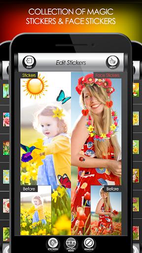 penyunting foto bunga: bingkai, pelekat & kolaj screenshot 5