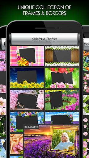 penyunting foto bunga: bingkai, pelekat & kolaj screenshot 4