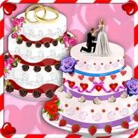 Rose Wedding Cake Maker Games on 9Apps