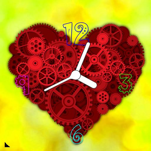 Heart Clock Live Wallpaper icon