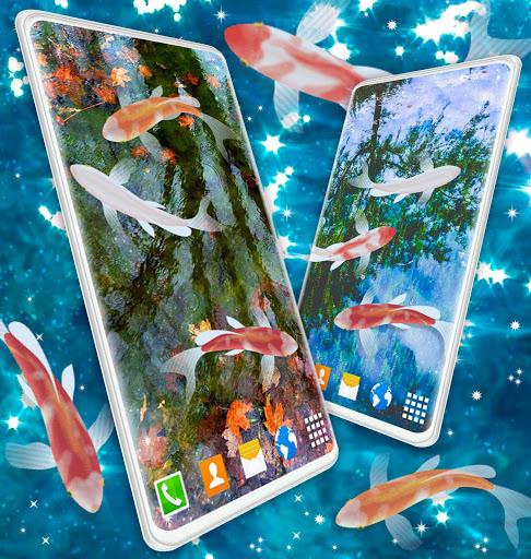 HD Koi Live Pond 3D 🐟 Fish 4K Live Wallpaper Free screenshot 5