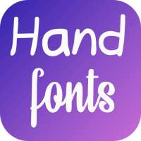 Hand Fonts for FlipFont with Font Resizer on 9Apps