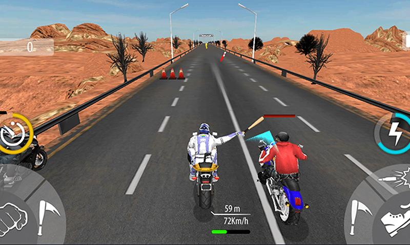 Bike Attack Race Highway Tricky Stunt Rider скриншот 5