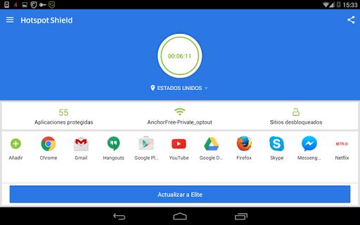 Hotspot Shield Proxy VPN gratuito y VPN segura screenshot 11