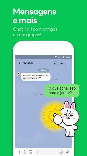 LINE:Chamadas&Mensagens Grátis screenshot 1