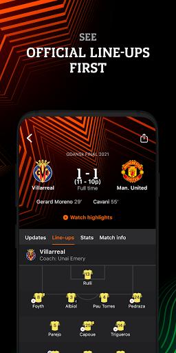 Europa: official football app screenshot 3