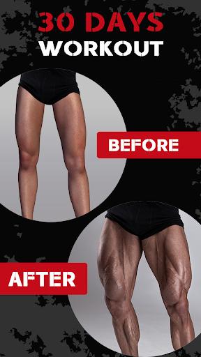 Leg Workout for Men - Thigh, Muscle Fitness 30 Day 4 تصوير الشاشة