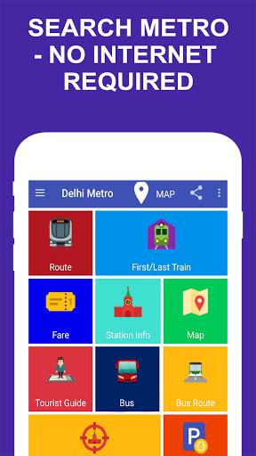Delhi Metro Route Map and Fare скриншот 1