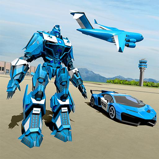 Polizeiauto Robotertransporter icon