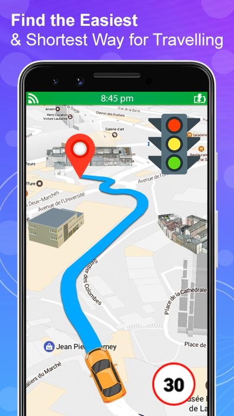 GPS Navigation Live Satellite View Earth Maps screenshot 1