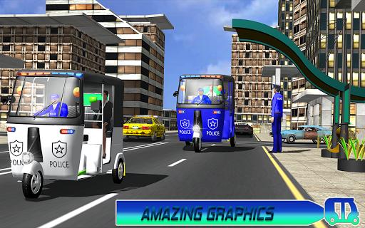 Police Tuk Tuk Auto Rickshaw Driving Game 2021 screenshot 3
