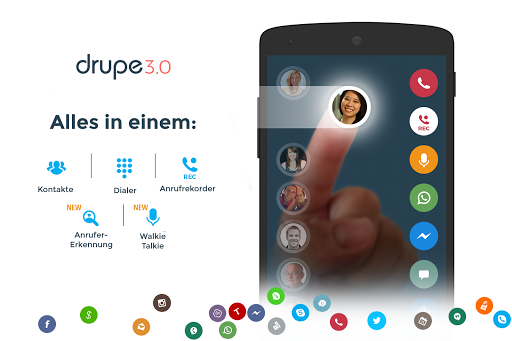 Kontakte & Telefon - drupe screenshot 1