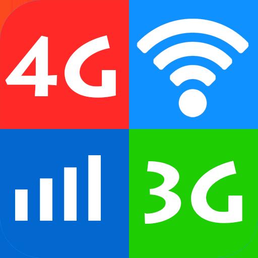 Wifi, 5G, 4G, 3G, 2G - Đo tốc độ mạng và Dữ liệu icon