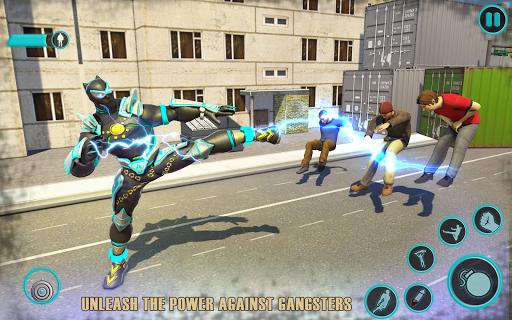Flying Panther Robot Hero: Robot Black Hero Games screenshot 2