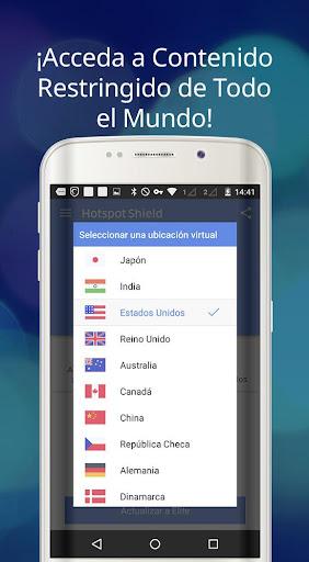 Hotspot Shield Proxy VPN gratuito y VPN segura screenshot 9