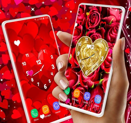 Love Clock Wallpaper ❤️ Hearts 4K Live Wallpaper screenshot 1