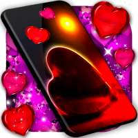 Love You Live Wallpaper ❤️ Purple Hearts Themes on 9Apps
