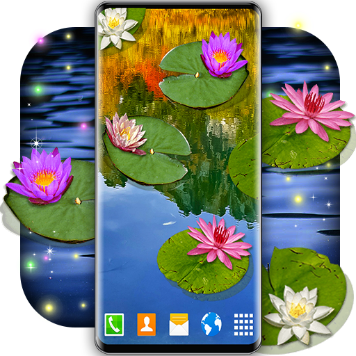 Water Lily Live Wallpaper 🌺 Flowers Wallpapers أيقونة
