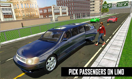 Big City Limo Car Driving Taxi Games screenshot 8
