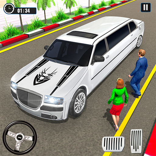 Big City Limo Car Driving Taxi Games icon