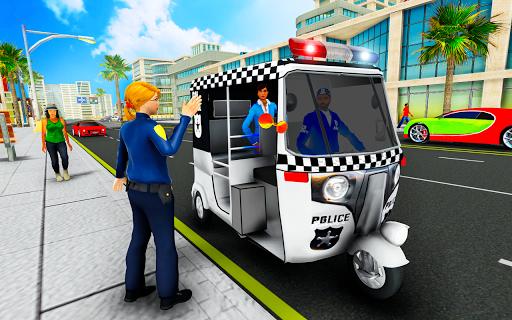 Police Tuk Tuk Auto Rickshaw Driving Game 2021 screenshot 6