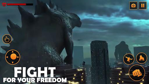 Monster Gorilla Attack-Godzilla Vs King Kong Games screenshot 2