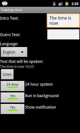 Talking Clock screenshot 1