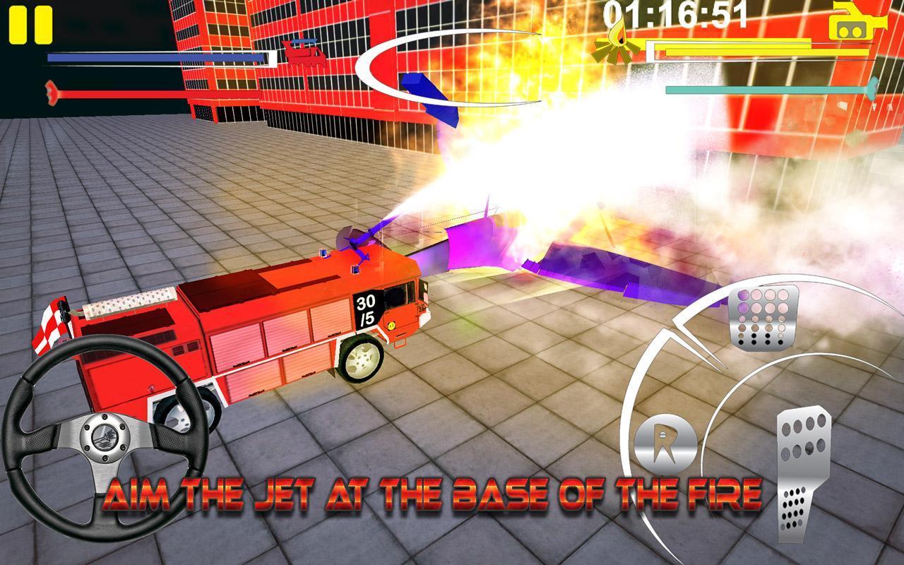 Firefighter-Fire Brigade Truck скриншот 5