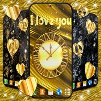 Gold Hearts 4K Wallpaper 💛 Golden live Wallpaper on 9Apps