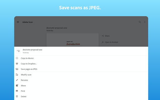 Adobe Scan: PDF Scanner with OCR, PDF Creator screenshot 10