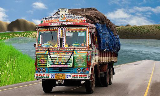 New Offroad Cargo Truck Driving Simulator Game 3D screenshot 4