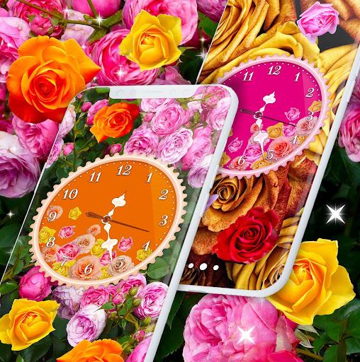 Rose Clock Live Wallpaper 🌹 4K Wallpapers Themes screenshot 7
