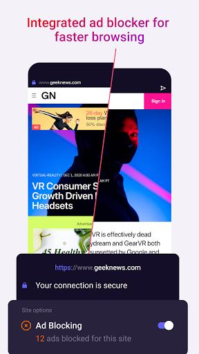 Opera Touch: fast, new & modern web browser screenshot 3