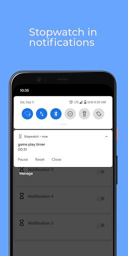 Floating Stopwatch, timer multitasking gratuito screenshot 4