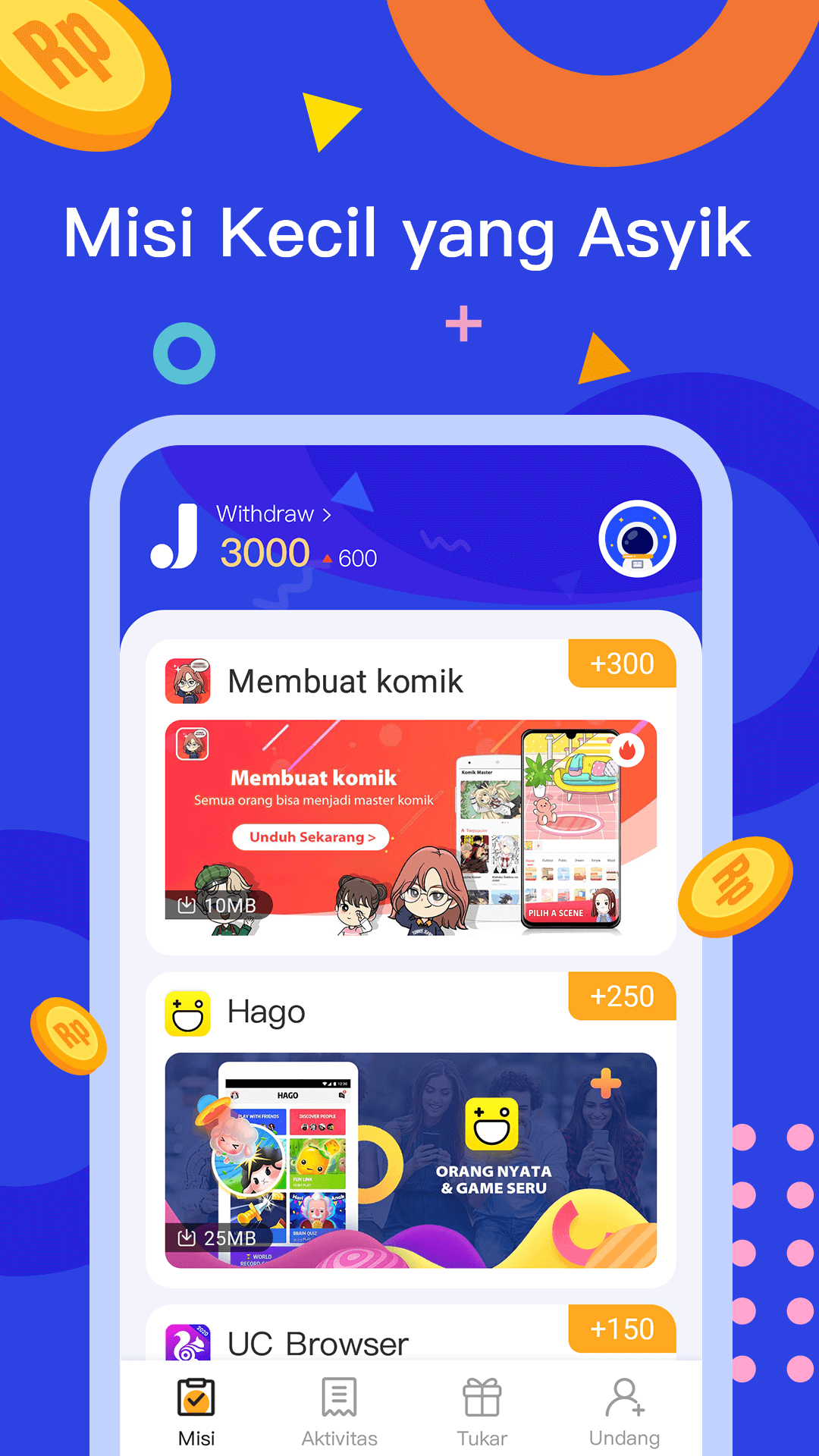JadiDuit - Free dapat uang, data dan gift screenshot 1