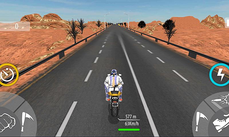 Bike Attack Race Highway Tricky Stunt Rider скриншот 3