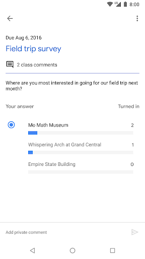 Google Classroom screenshot 5