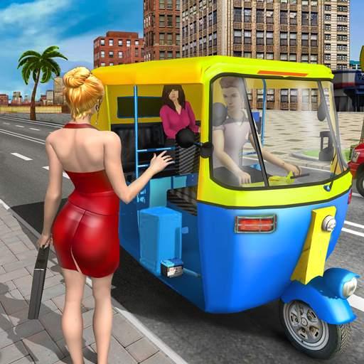 Modern Tuk Tuk Auto Rickshaw - Free Driving Games