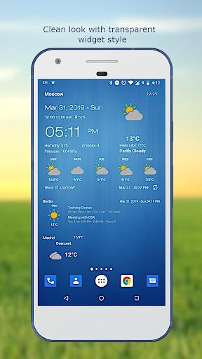 Hava ve saat Widget için Android (Hava durumu) screenshot 3