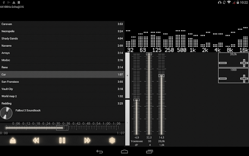 music player with parametric equalizer & surround screenshot 9