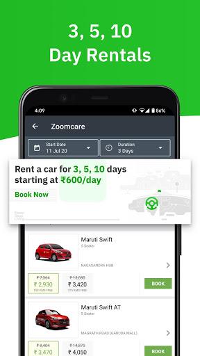 Zoomcar - Sanitized Self-drive car rental service screenshot 5