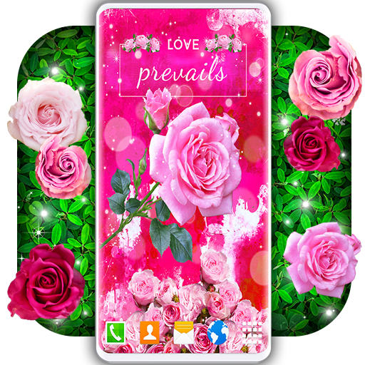 Spring Rose Live Wallpaper 🌹 Pastel Pink Themes icon