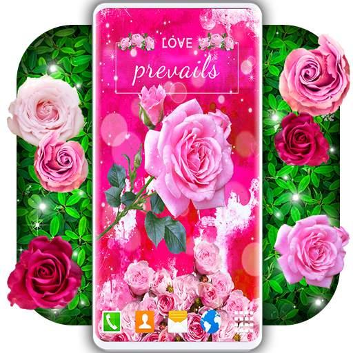 Spring Rose Live Wallpaper 🌹 Pastel Pink Themes