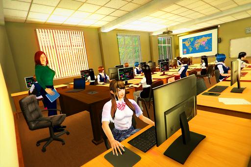 real High School Girl Simulator games screenshot 7